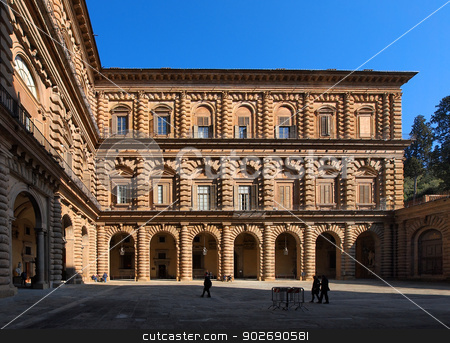 The Palazzo Pitti in Florence stock photo, The Palazzo Pitti - famous palace in Florence, Tuscany, Italy by Karol Kozlowski