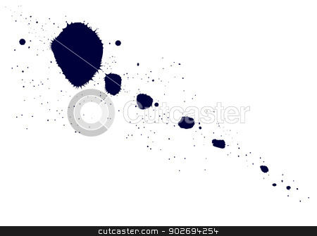 Ink Stain stock vector clipart, Ink or paint splatter over a white background. by Kotto