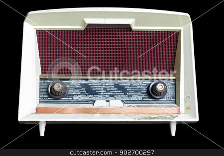 vintage radio stock photo, vintage radio isolated on black background by Vichaya Kiatying-Angsulee