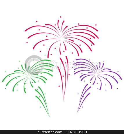 Sketch for abstract colorful firework stock vector clipart, Illustration sketch for abstract colorful firework - vector by -=Mad Dog=-