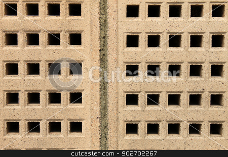 Air bricks stock photo, Abstract textured background of building air bricks. by Martin Crowdy
