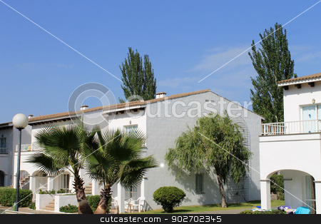 Holiday apartments stock photo, Holiday apartments on island of Majorca, Spain. by Martin Crowdy