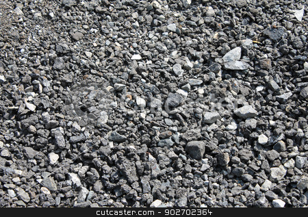 Pile of coal background stock photo, Abstract background of coal in pile. by Martin Crowdy