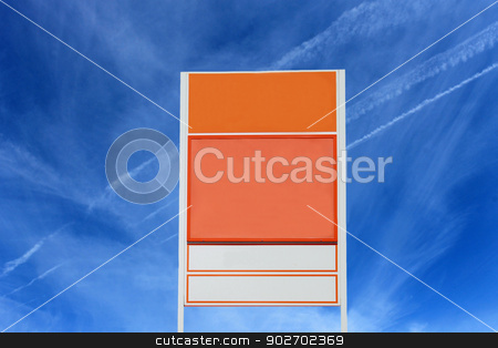 Road sign with blue sky background stock photo, Road sign with blue sky background and copy space. by Martin Crowdy