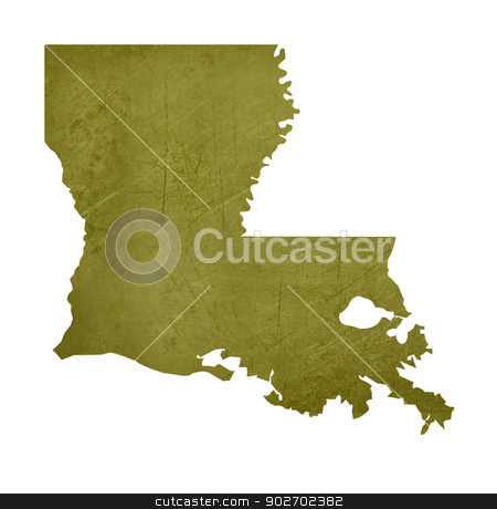 State of Louisiana stock photo, American state of Louisiana isolated on white background with clipping path. by Martin Crowdy