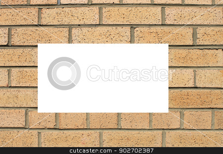 Textured brick wall background stock photo, Abstract background of brick wall building with copy space. by Martin Crowdy
