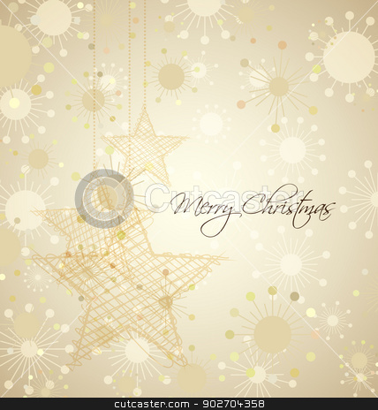 Christmas Background stock vector clipart, Christmas background with place for text by Miroslava Hlavacova