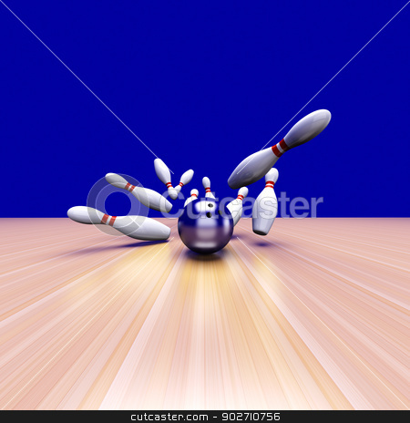 Strike stock photo, 3D rendered Illustration. by Michael Osterrieder