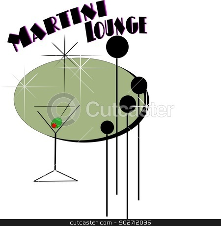 martini lounge concept with glass stock photo, martini lounge background by Gary Nicolson