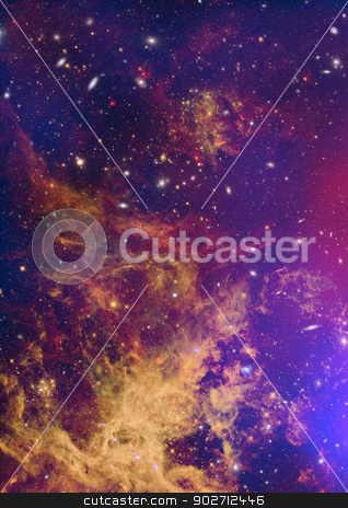 Being shone nebula stock photo, Far being shone nebula and star field against space. by Anatolii Vasilev
