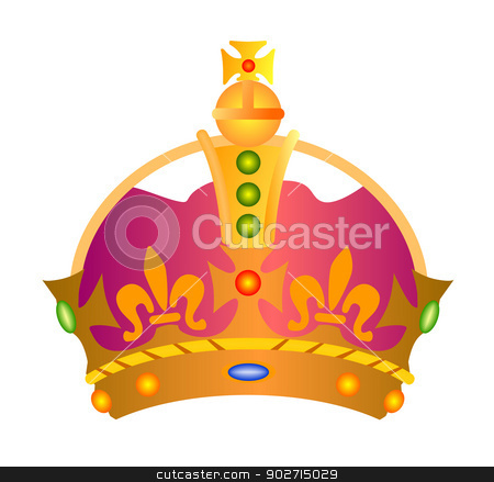 Crown stock photo, Illustration of a crown isolated on white background done in retro style.  by patrimonio