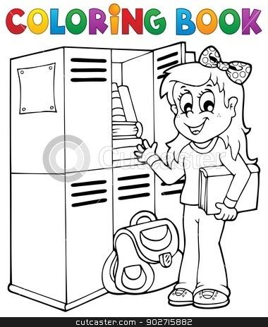 Coloring book school topic 5