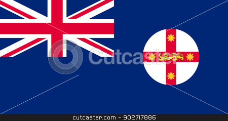 Flag of New South Wales stock photo, Flag of Australian state of New South Wales by Martin Crowdy