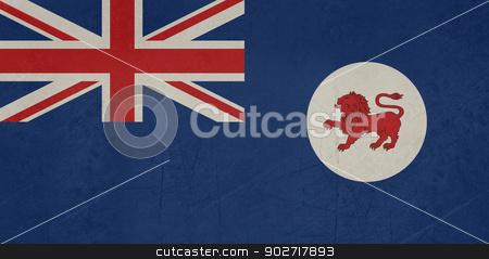 Grunge Tasmania state flag stock photo, Grunge flag of the Australian state of Tasmania. by Martin Crowdy