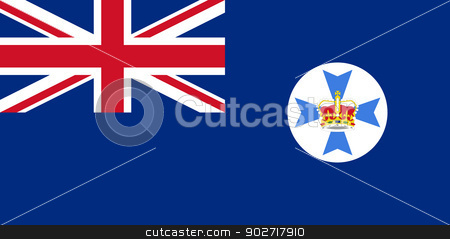Queensland state flag stock photo, Flag of the Australian state of Queensland by Martin Crowdy