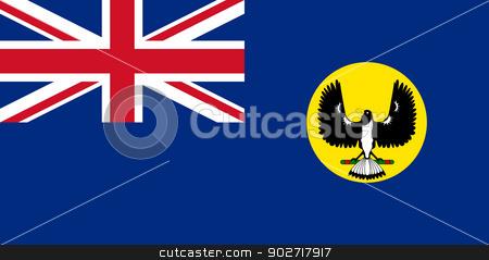 Southern Australia state flag stock photo, Flag of the state of Southern Australia. by Martin Crowdy