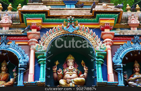 Batu caves Indian Temple stock photo, Statue of Hindu God in Batu caves Indian Temple, Kuala Lumpur, Malaysia by szefei