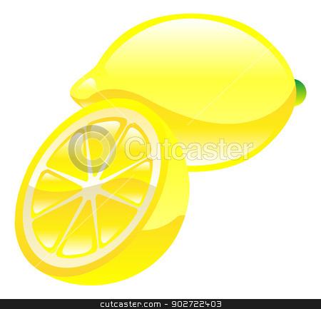 Illustration of lemon fruit icon clipart stock vector clipart, Illustration of lemon fruit icon clipart by Christos Georghiou