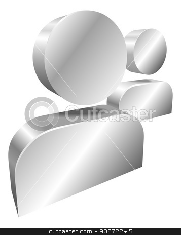 Social media icon stock vector clipart, Illustration of messenger people social media networking icon by Christos Georghiou