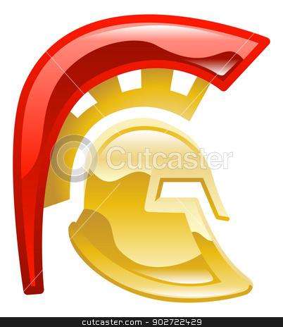 Trojan spartan or galadiator helmet stock vector clipart, Trojan spartan or galadiator helmet by Christos Georghiou