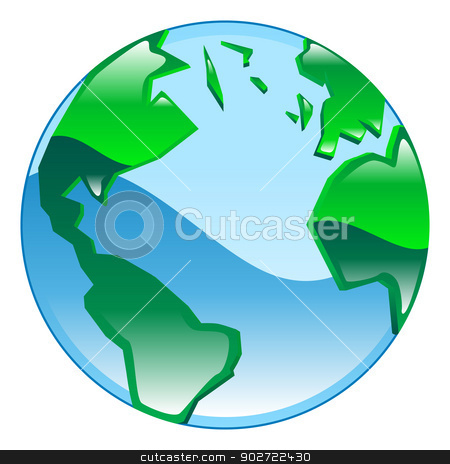 Shiny glossy globe icon clipart illustration stock vector clipart, Shiny glossy globe icon clipart illustration by Christos Georghiou