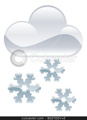 Weather icon clipart snow flakes illustration stock vector clipart, Weather icon clipart snow flakes illustration by Christos Georghiou