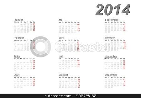 German calendar for 2014