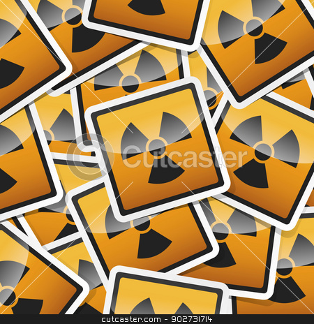 sticker-danger-symbols stock vector clipart, Danger, hazard sign, icon sticker style collection with shadow. by Andrej Kaprinay