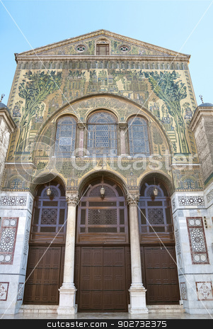 umayyad Mosque door in damascus syria stock photo, umayyad Mosque door in damascus in syria by travelphotography