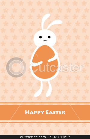 Happy Easter stock vector clipart, Beautiful greeting card of Happy Easter by Ingvar Bjork