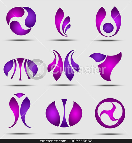 Abstract business icon collection stock vector clipart, Originally created abstract business icon collection by Maria Repkova