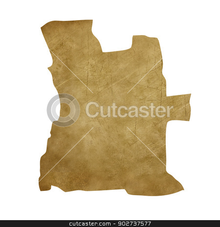 Angola grunge treasure map stock photo, Angola grunge map in treasure style isolated on white background. by Martin Crowdy