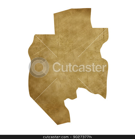 Gabon grunge treasure map stock photo, Gabon grunge map in treasure style isolated on white background. by Martin Crowdy