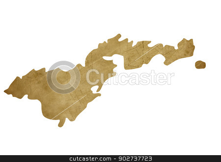 Grunge American Samoa treasure map stock photo, Grunge American Samoa map in treasure style isolated on white background. by Martin Crowdy