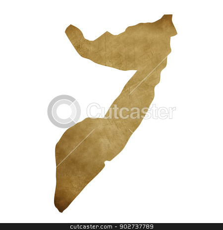 Somalia grunge treasure map stock photo, Somalia grunge map in treasure style isolated on white background. by Martin Crowdy
