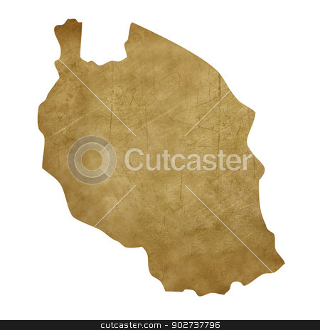 Tanzania grunge treasure map stock photo, Tanzania grunge map in treasure style isolated on white background. by Martin Crowdy