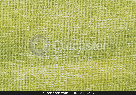 green artist canvas stock photo, macro background texture of artist canvas painted green by Marek Uliasz
