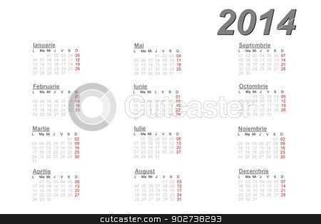 Romanian calendar for 2014