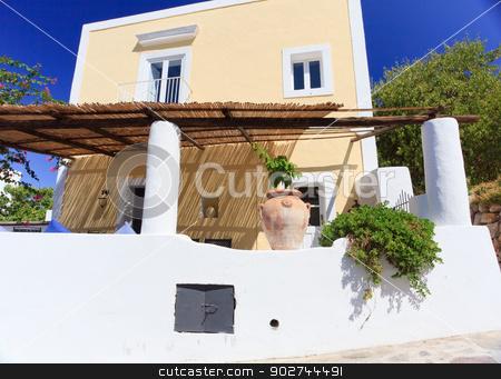 Architecture in Panarea stock photo, Architecture on Panarea island decorated according to mediterranean style by Natalia Macheda