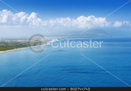 Capo Vaticano, view from the North stock photo, Blue landscape, view on Capo Vaticano in Calabria by Natalia Macheda