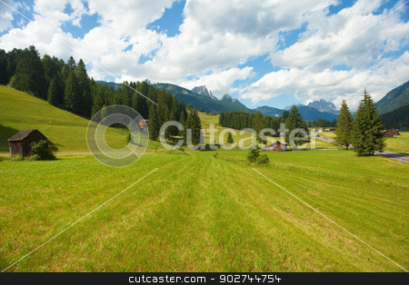 Alpine landscape stock photo, Serene alpine landscape in Trentino region of Italy by Natalia Macheda