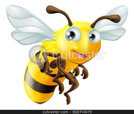 Cartoon Bee stock vector clipart, An illustration of a cute cartoon bee by Christos Georghiou