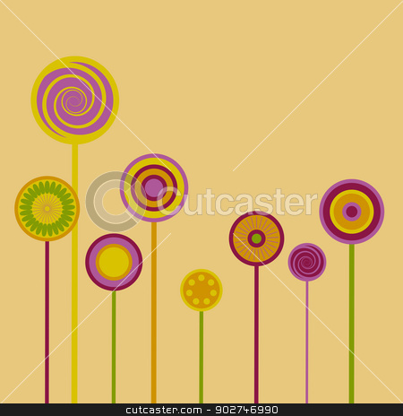 Abstract Flower Glade stock vector clipart, Abstract Floral Background - stylized flowers. EPS10 vector. by benjaminlion