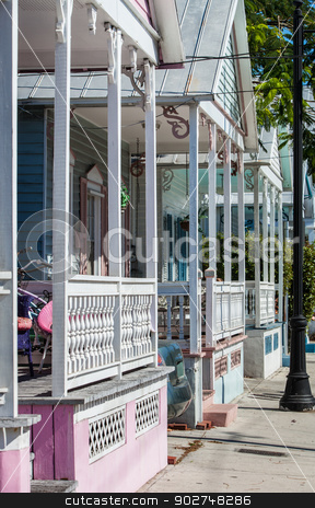 Home detail in Key West stock photo, Detail of colorful homes in Key West, Florida by Scott Griessel