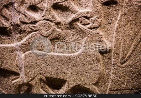 Turkish Stone Relief stock photo, Ancient Stone relief in Ankara by Scott Griessel