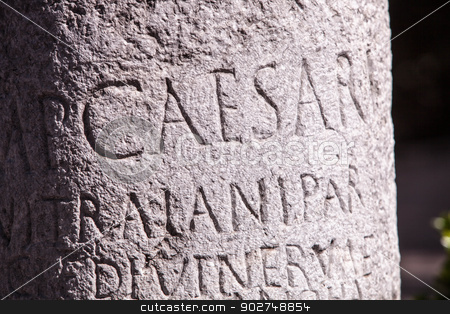 Roman Milestone stock photo, Roman Milestone in Ankara by Scott Griessel