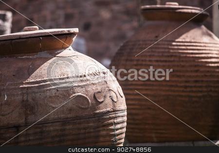 Ancient jugs in Turkey stock photo, Ancient jugs in Ankara by Scott Griessel