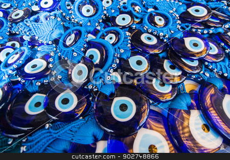 Evil Eye Amulet stock photo, Evil Eye Amulets for sale in Turkey by Scott Griessel