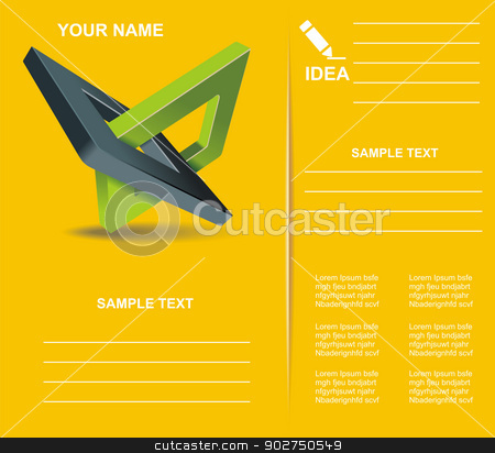 Brochure design  with orthogonal rhomb symbols. stock vector clipart, Brochure design  with orthogonal rhomb symbols. by Elena