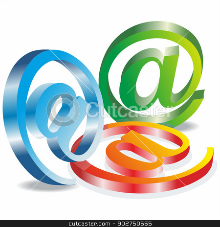 Set vector e mail icon  stock vector clipart, Set vector e mail icon  by Elena